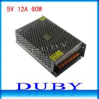 5V 12A 60W Switching Power Supply Driver For LED Strip light Display AC100V-240V Input,5V Output Free Shipping