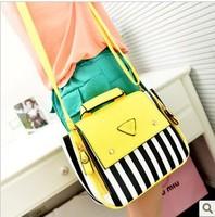 2013 summer fashion sweet candy color stripe color block shoulder bag handbag cross-body women's handbag