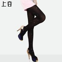 Print black stockings spring and autumn elegant female socks pantyhose legging socks s-8304