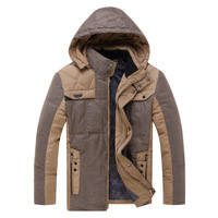 2013 New Fashion Winter Men's Slim Down Jacket White duck down Thick Warm Male Long Down WEAR Free Shipping NTZH086