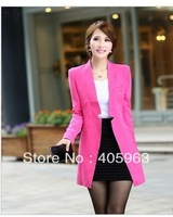 Free shipping 2014 Spring and Autumn womens  long styles small casual leisure suit jacket coat blazers