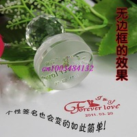 Crystal stamp / seal custom personalized crystal / crystal radius stamp / wedding supplies / free lettering free shipping