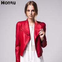 Small leather clothing female short design honru2013 autumn fashion PU women's motorcycle leather jacket coat