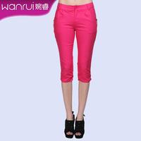 Women's summer 2013 ol candy color capris pencil pants female trousers