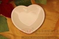 Dessert mango plate heart plate dessert bowl melamine tableware