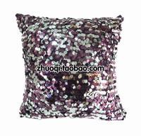 Kaozhen cushion purple silver paillette sequin pillow cover core
