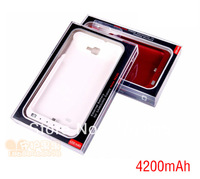 4200mAh High capacity Power Backup Battery Charger Case For Samsung Galaxy Note i9220 N7000 Free Shipping 3 Color