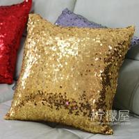 Paillette cushion cover full paillette gold luxury pillow cover