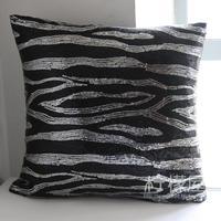 Black silver paillette masklike cushion cover cushion set pillow cover