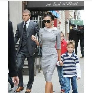 S-XL Free Shipping Women's Fashion slim hip slim one-piece dress #AH015