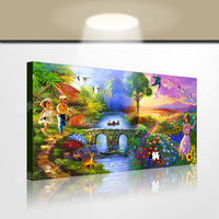 Oil painting chudo painting mural home decoration painting landscape indoor decoration casual