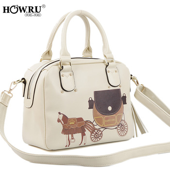 Howru 2013 small carriage decoration casual women's portable messenger bag handbag