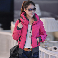 free shipping 2013 new arrive Autumn and winter outerwear women's cotton-padded jacket thickening wadded fashion jacket  xf008