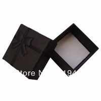 Free shipping Black Color Gift Paper Stripe Jewelry Boxes, Ring cases, Earring Box Size 4*4cm 24pcs/lot China display Suppliers