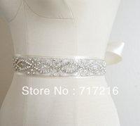New new arrival hand made beaded sparkling crystal fancy belt wedding dress sash bridal waistband