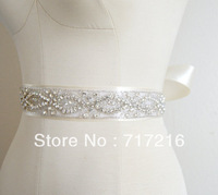 New new arrival hand made beaded sparkling crystal fancy belt wedding dress sash bridal waistband