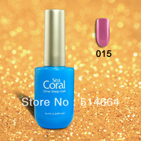 Pretty 150 colors!! Sea Coral Soak Off UV&LED One Step Color Gel (30 pcs gel polish +free shipping)