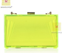 Factory Offer! 10Color New Women's Transparent Bright Evening Bags Day Clutch Exquisite Handcrafted Acrylic Handbags No5001