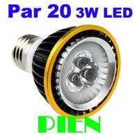 Par 20 3W E27 LED Spot lights Par20 GU10 lamara for Kitchen Bedroom led bulbs 110V 220V 300LM Free Shipping 10pcs/lot