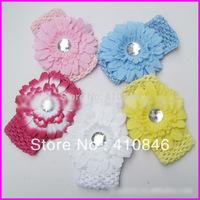 Children's Flower Hairband Korean Baby Sunflower Headband African daisy Elastic Headress 50 pcs lot MX3059