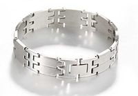 Fashion titanium steel silver king word punk bracelet wholesale men's jewelry
