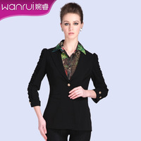 Women's 2013 spring ol medium-long one button wrist-length sleeve slim female blazer outerwear