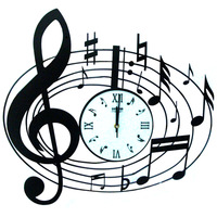 Musical note wall clock drow settler clock music fashion style pocket watch fashion decoration