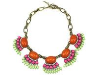 The latest new arival fashion shining colorful acrylic stone bib short necklace