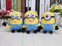 18pcs/Lot (1set=3pcs )Despicable Me 2 7inch Despicable Me Minion Jorge Stewart Dave NWT with tags 3D eyes