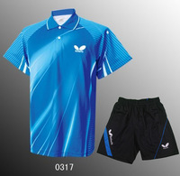 Butterfly Table Tennis Shirt Set Tennis Breathable Shirt Shorts Men Badminton wear  T-shirt Functional Dry Sport Suit Polyester