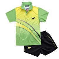 2014 Butterfly Table Tennis Clothing Summer Tennis Shirt Set Shirt Shorts Men Badminton Jersey Plus Size 4XL
