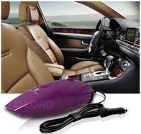 Handheld Powerful Car Plug Dry Vacuum Cleaner  12v 75w Purple