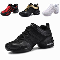 Women's dance shoes soft outsole elevator breathable modern dance jazz shoes, new fashion sport woman shoes