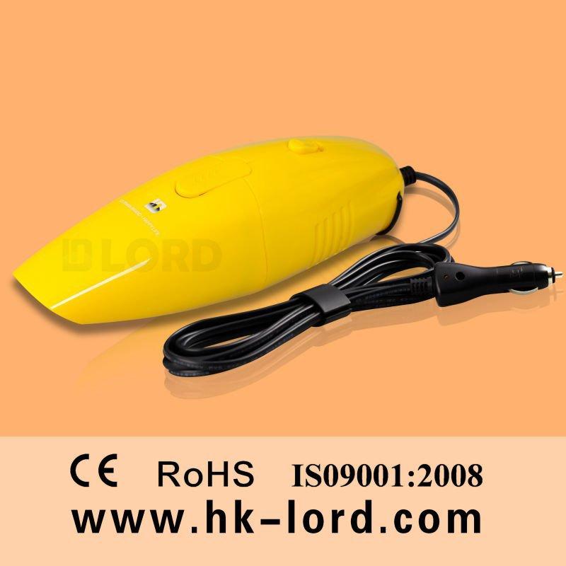 Handheld Powerful Handy Car Vac Cleaner 12v 75w Yellow(China (Mainland))