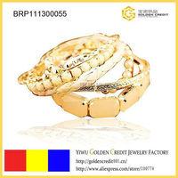 Min order $15 ( mix order )  free shipping wholesale 2013 luxury handmake multi-layer gold-plated bracelet
