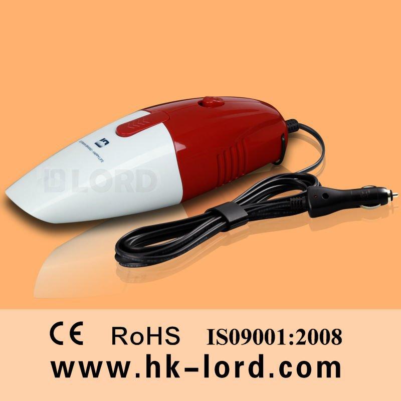 Handheld Powerful 12v Car Vac Cleaner 75w red and white(China (Mainland))