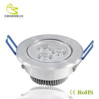 Free shipping(3pcs/lot) 3w led down light  Aluminum materail 85-265v  270lm celing light for home recessed led downlight