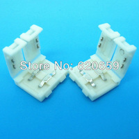 FREE SHIPPING, 10mm Width 2Pin SMD5050/3528 LED Strip Light Clamp Connector/Adapter, 50pcs/lot