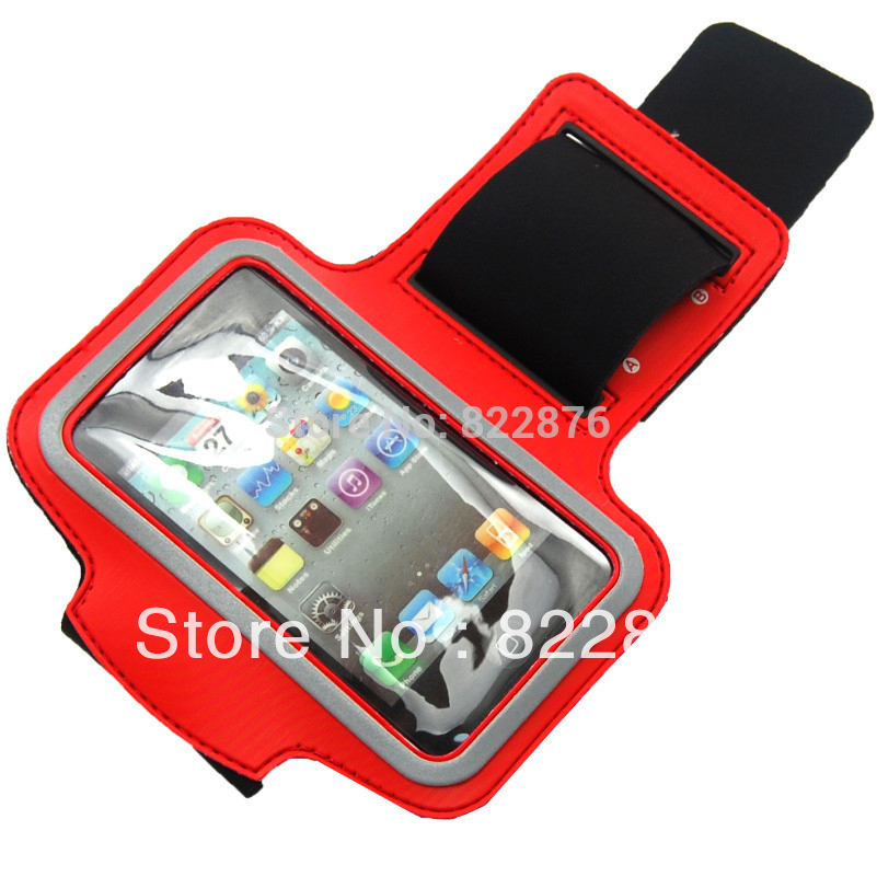 Free Shipping GYM Workout Sport Case Cover For apple iPhone 4 4G 3G 3GS iPod Touch Arm Band Case(China (Mainland))
