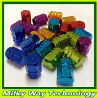 Hot Sales !!! Wholesale Air Stem Caps Cover Tire Tyre Pressure Valves 6 Color High Quality 20set/lot x 4pcs/set #LQ041