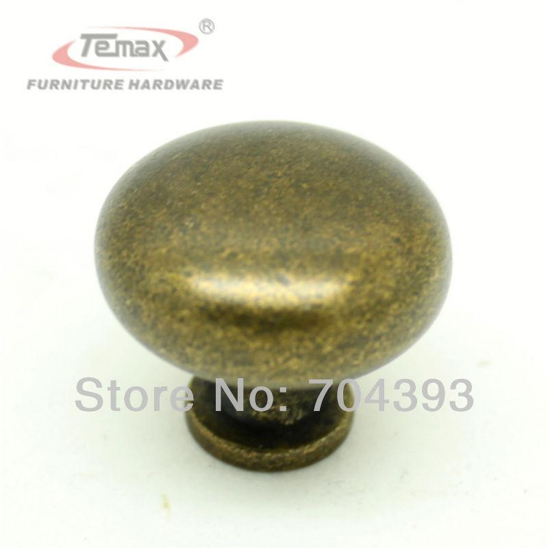 30mm Zinc Alloy Brass Furniture Bedroom Kitchen Cabinets Knobs And Handles Dresser Drawer Hanldes Hardware(China (Mainland))