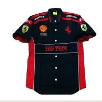 C001-1 F1 automobile  race motorcade car Team racing clothing short-sleeve shirt T-shirt cotta T-shirts