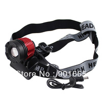 Zoom CREE XML XM-L T6 LED Bicycle Light headlamp Colorful Glass Cover-K21