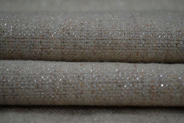 Quality fashion slub fabric beige wool silveryarn flannel(China (Mainland))