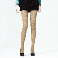 HOT high quality  sexy Leopard Pattern silk stockings Leggings Pantyhose (100D)  coffee Shipping Drop shipping