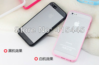 High Quality TPU edge Transparent Case Cover Silicone Soft for iPhone 5 5G 5S, 8 Color, Free Shipping 10pcs
