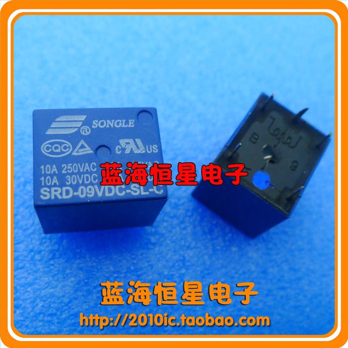 Srd-09vdc-sl-c 250v 10a relay srd-9 v(China (Mainland))