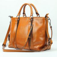 Guaranteed 100% Genuine leather women handbags women leather handbags Work Bag Elegant Vintage tote shoulder bags NEW bag 2015