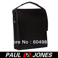 Free Shipping PJ Men's Hot Fashion Business Polyurethane + Real Leather Shoulder Bag Messenger Tote GZ307