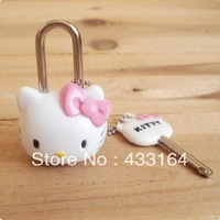 HELLO KITTY CUTE CARTOON CHARACTER HELLO KITTY SUITCASES LUGGAGE PADLOCK LOCK CABINET DRAWER